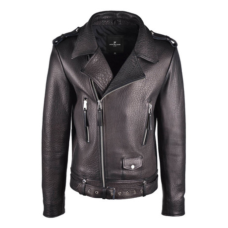 Maximus Textured Leather Jacket // Black (Small)