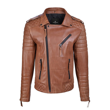 Graham Leather Jacket // Brown (XS)