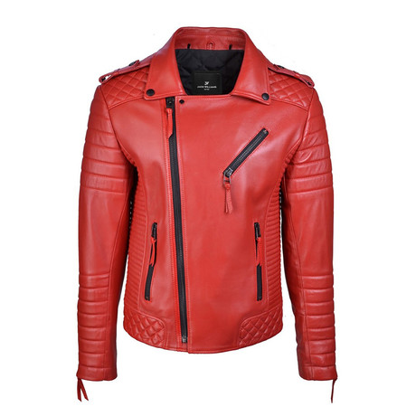 Graham Leather Jacket // Red (XS)