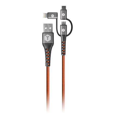 3-In-1 Armor-Flex Cable // 4'