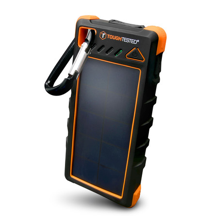 16000mAh Solar Power Bank + Flashlight