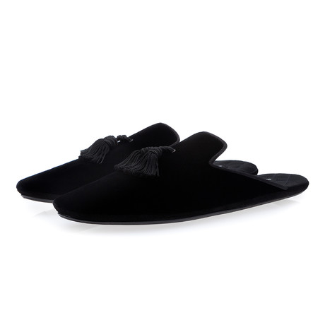 Louis Velour Lounge Slippers // Black (Euro: 39)