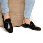 Nappier Suede Demi-Slippers // Black (Euro: 46)