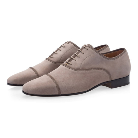 Polin Suede Lace Ups // Taupe (Euro: 39)