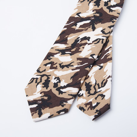Camo Skinny Tie // Desert