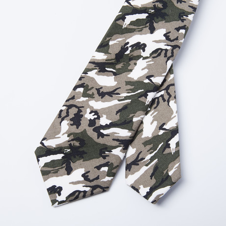 Camo Skinny Tie // Woodland