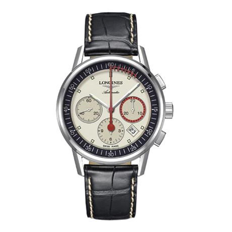 Longines Heritage Column-Wheel Chronograph Automatic // L4.754.4.72.4 // New