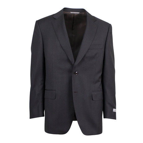 Canali // Water Resistant Wool 2 Button Suit // Brown (US: 46S)
