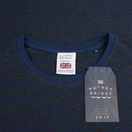 Signature T-Shirt // Navy Stripe (S)