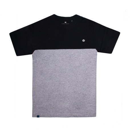 Crown Panel T-Shirt // Black + Gray Heather (S)