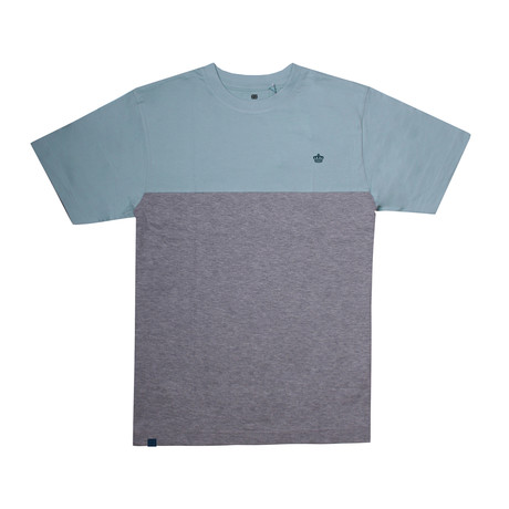 Crown Panel T-Shirt // Teal + Gray Heather (S)