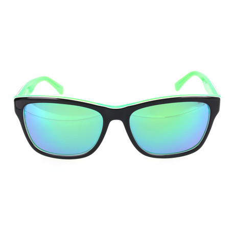 Unisex L683S Sunglasses // Black + Green
