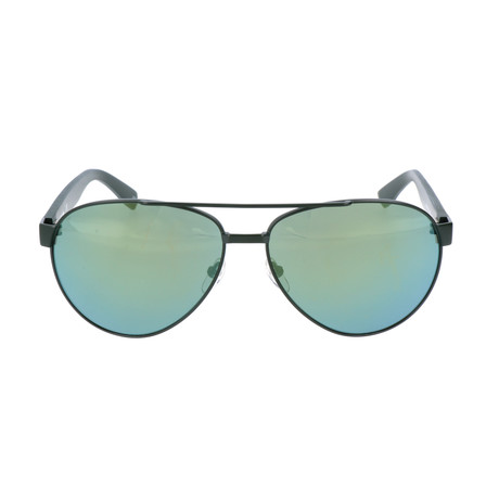 Unisex L185S Sunglasses // Green Matte