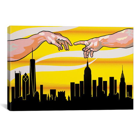 """Yellow Skies Over Paradise (26""""W x 18""""H x 0.75""""D)"""