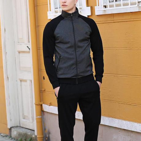 Irving Track Suit  // Black + Dark Gray (S)