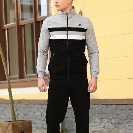 Orville Track Suit // Black + Gray (XS)