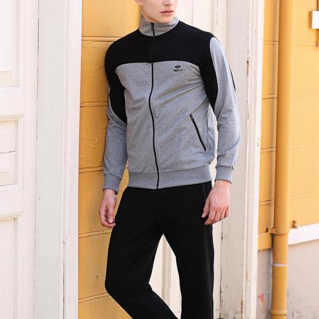 Casey Track Suit  // Gray + Black (S)