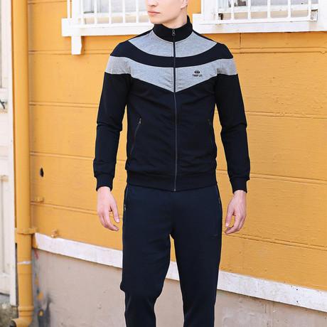 Benjamin Track Suit // Navy + Gray (XS)