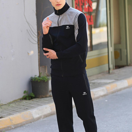 Theron Track Suit  // Navy + Gray (S)