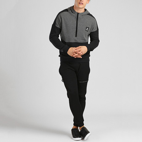 Karl Tracksuit // Light Melange + Black (S)