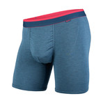 Classic Boxer Brief // Ink Heather + Pink (XS)