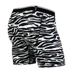 Classic Boxer Brief // Tiger White + Black (XS)