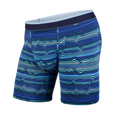 Classic Boxer Brief // Warp Stripe + Blue (XS)
