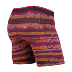 Classic Boxer Brief // Warp Stripe + Purple (XL)