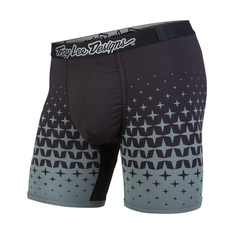 Troy Lee Boxer Brief // Megaburst Black + Grey (XS)