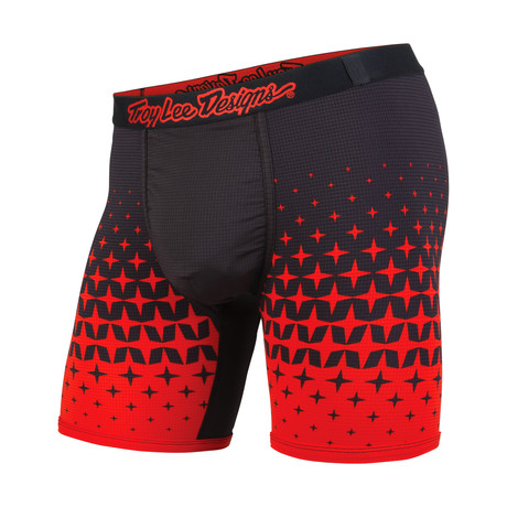 Troy Lee Boxer Brief // Megaburst Black + Red (XS)