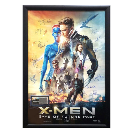 Signed + Framed Movie Poster // X-Men Days of Future Past