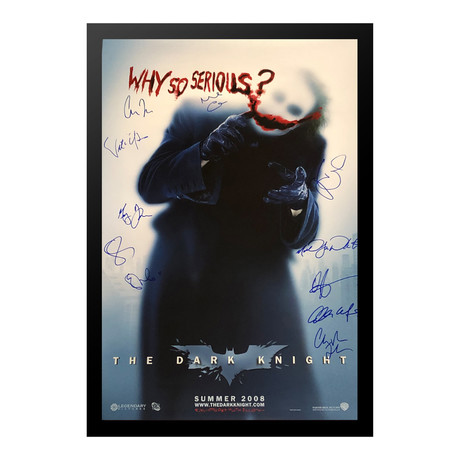 Signed + Framed Poster // The Dark Knight Why So Serious