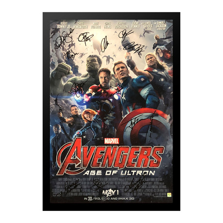 Signed + Framed Poster // Avengers Age of Ultron