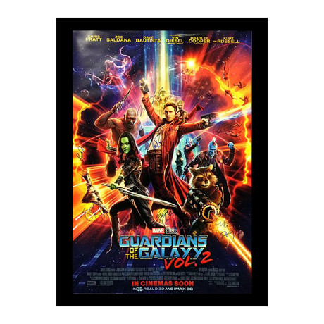 Signed + Framed Poster // Guardians of the Galaxy