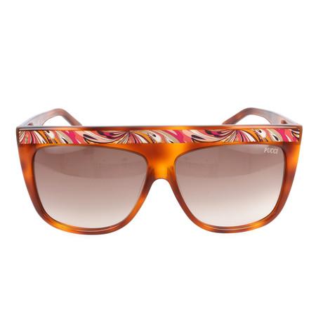 EP0008-56F Sunglasses // Havana