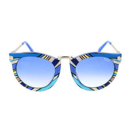 EP0025-89W Sunglasses // Turquoise