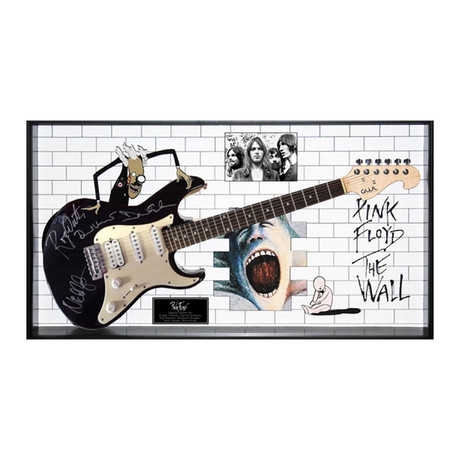 Signed + Framed Guitar // Pink Floyd