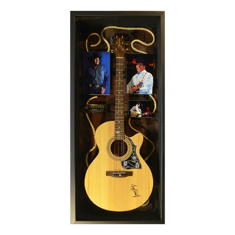 Signed + Framed Guitar // George Strait
