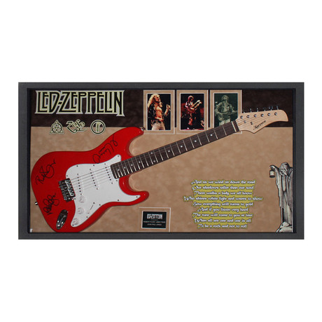 Signed + Framed Guitar // Led Zeppelin