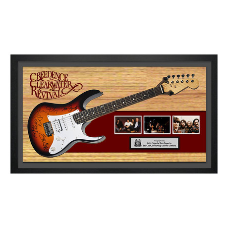 Signed + Framed Guitar // Creedence Clearwater