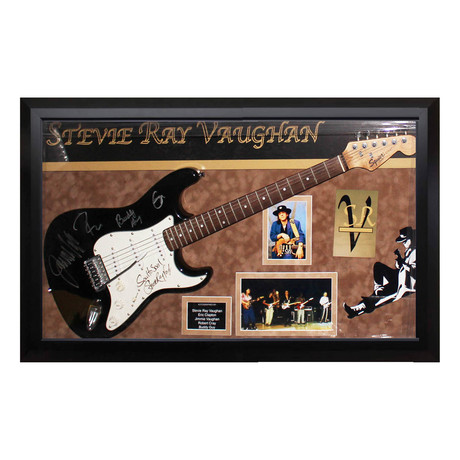 Signed + Framed Guitar // Stevie Ray Vaughan