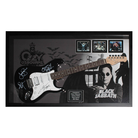 Signed + Framed Guitar // Ozzy Osbourne