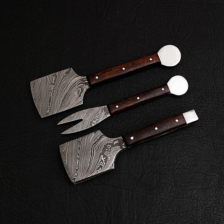Damascus BBQ Set // 3 Piece Set