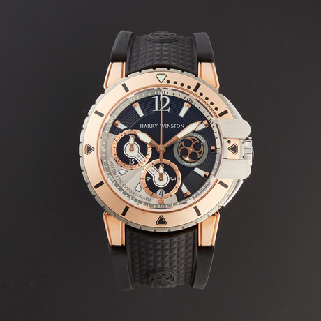 Harry Winston Ocean Diver Chronograph Automatic // OCEACH44RZ005 // Pre-Owned