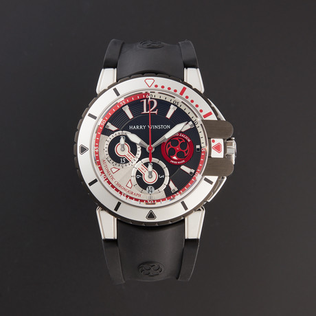 Harry Winston Ocean Diver Chronograph Automatic // OCEACH44WZ007 // Pre-Owned