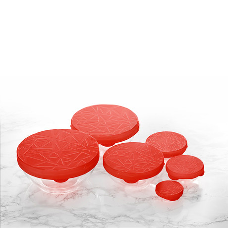 Round Stretch Cover // 6 Piece Set (Red)