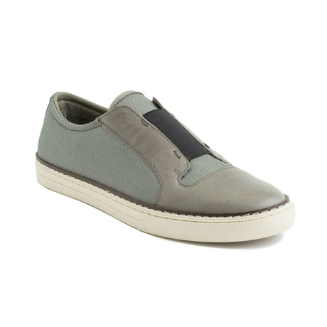 Phil Canvas Leather Slip-On Sneakers // Gray (EU 40)