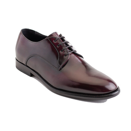 Armani Collezioni // Luke Leather Derby Dress Shoes // Maroon (EU 40)