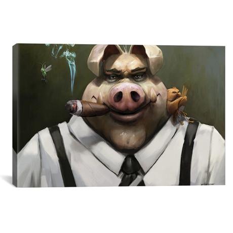 "The Poker Face // Steve Goad (26""W x 18""H x 0.75""D)"