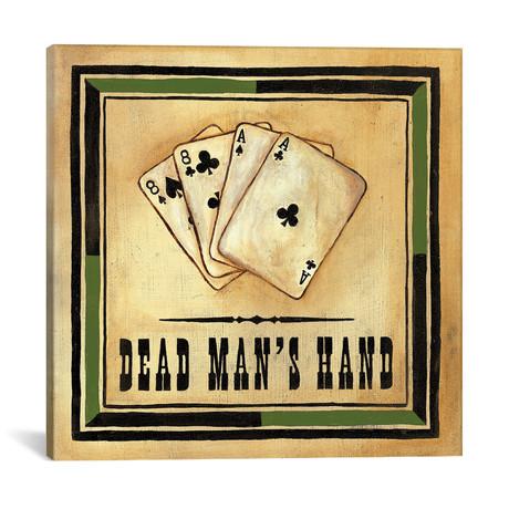 "Dead Man's Hand // Jocelyne Anderson (18""W x 18""H x 0.75""D)"